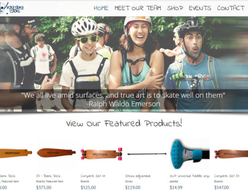 Skating Online Store Website