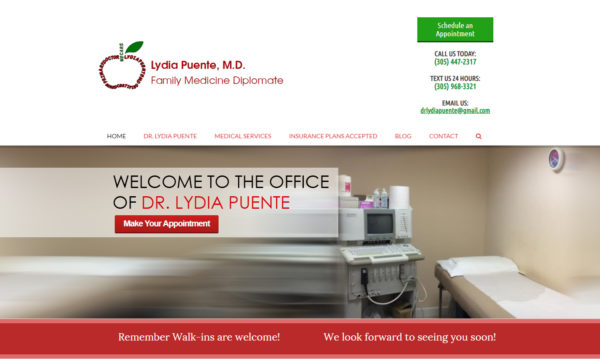 miami doctor website designed by art spark design