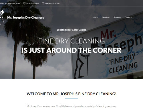 Mr. Joseph's Dry Cleaning Website Design