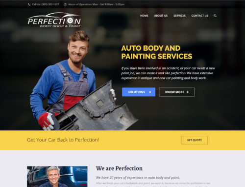 Perfection Body Shop & Paint Website Design