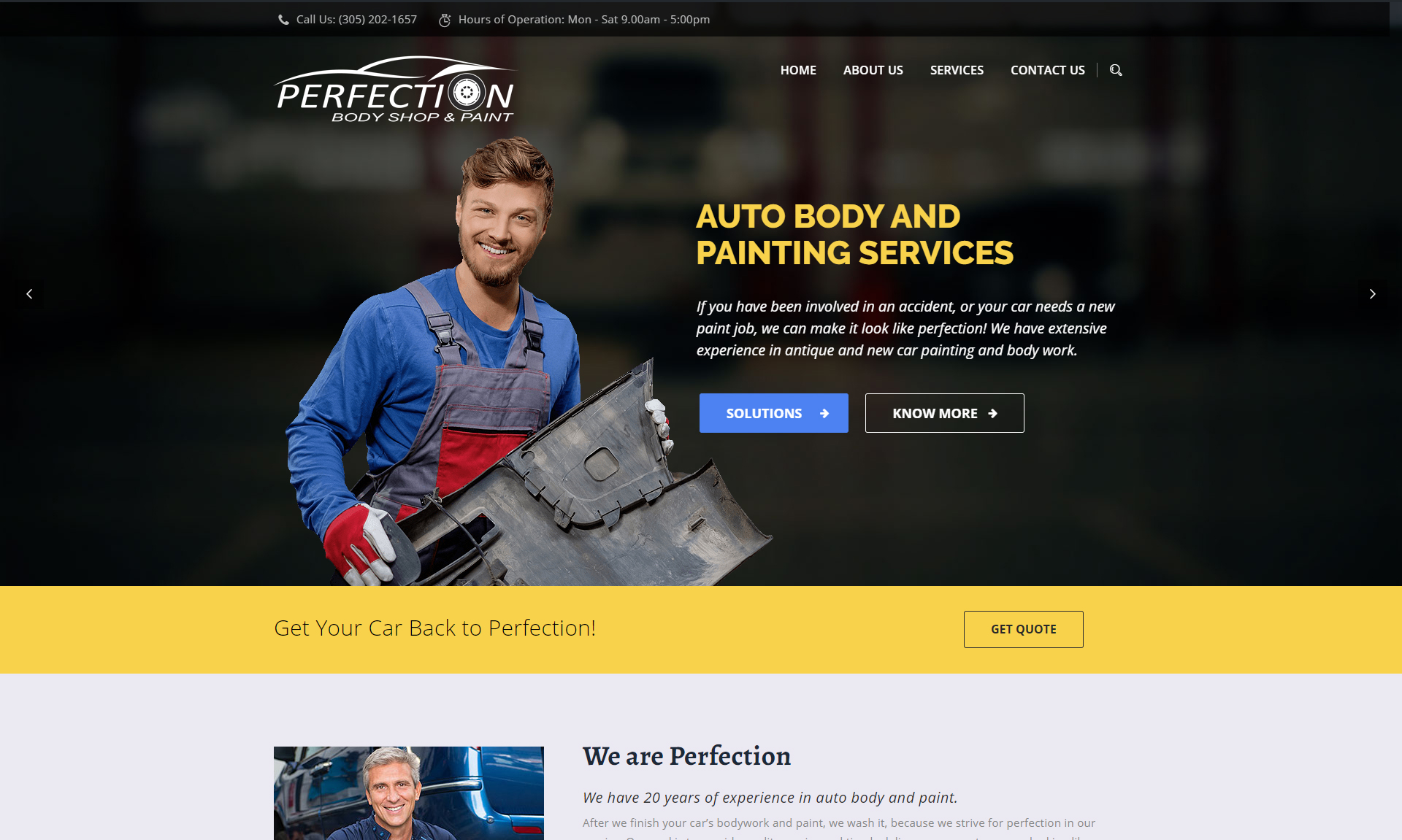 perfection body shop and paint