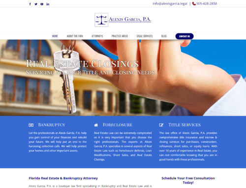 Alexis Garcia Legal Website Design