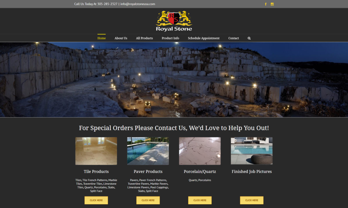 royal stone website design