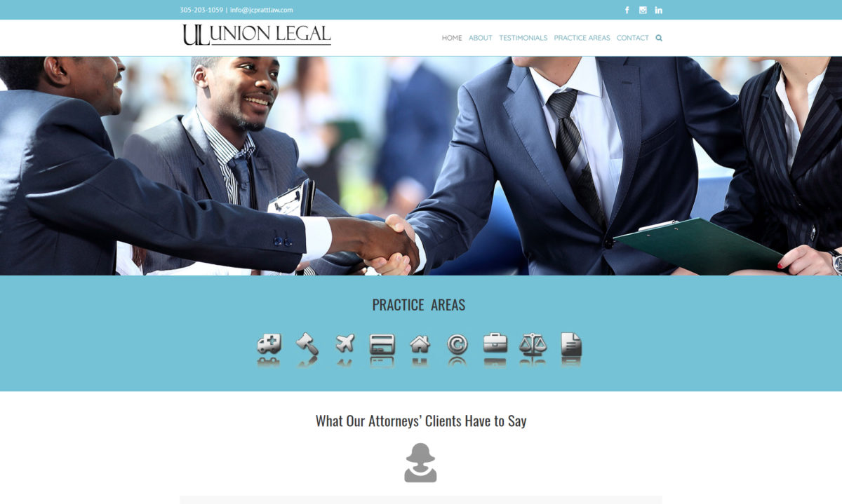 Lawyer web design miami