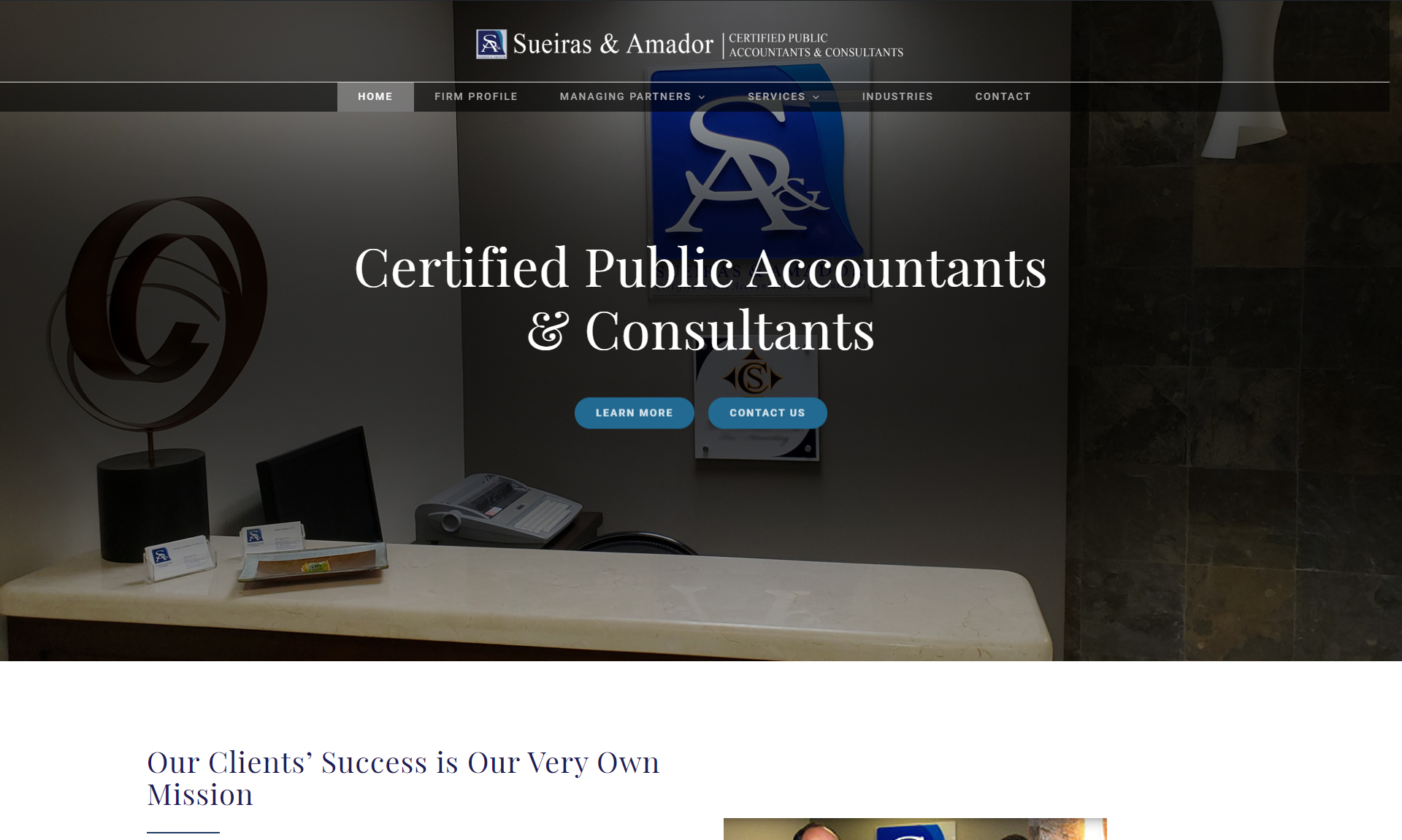 Suieras & Amador | Accounting and Consultants Website