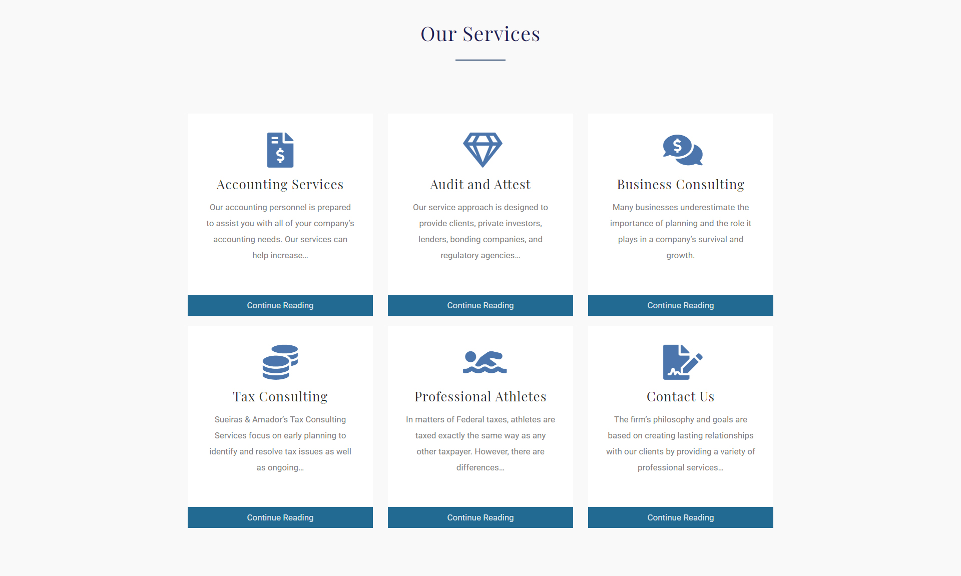 accounting firm website services