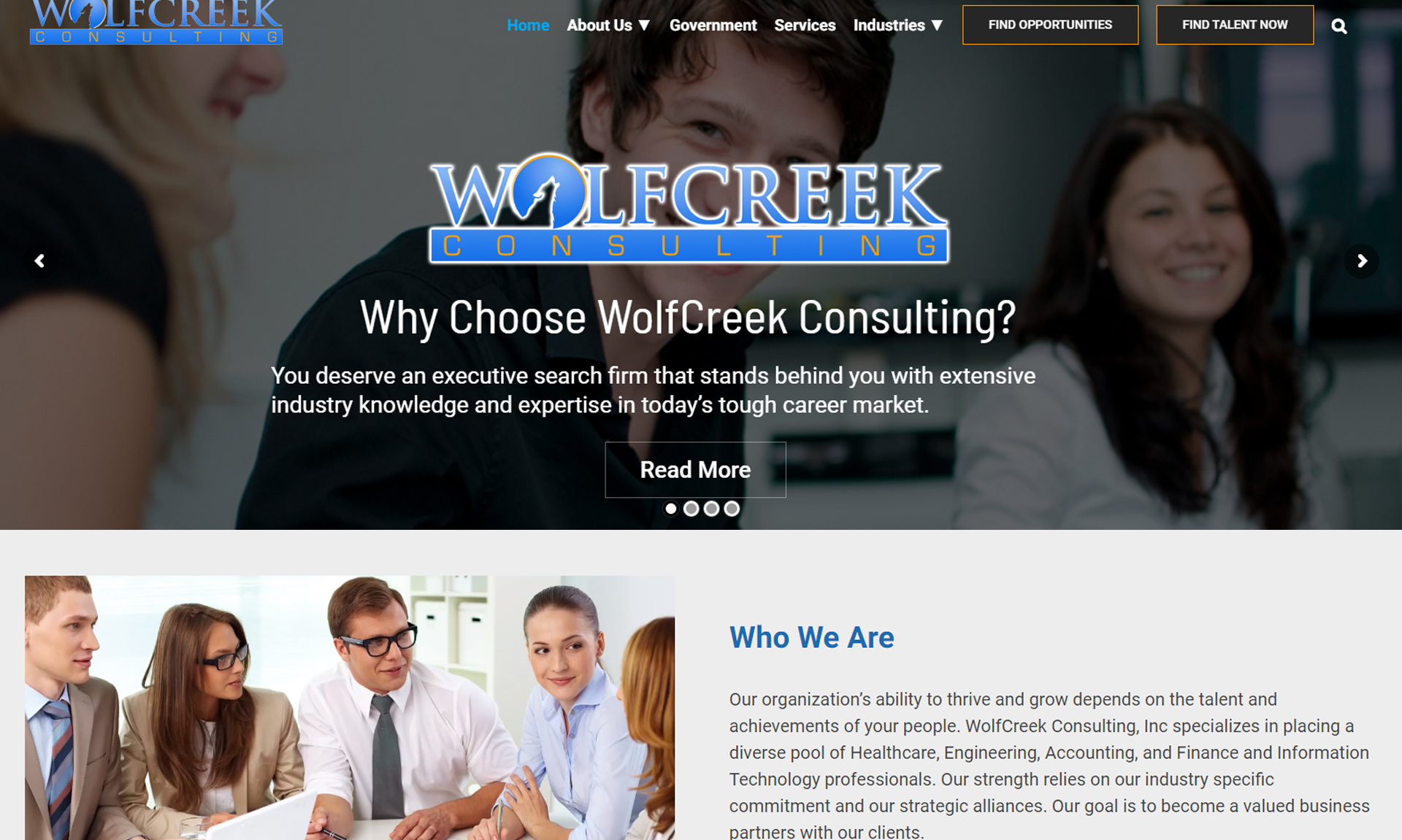 WolfCreek Staffing Website